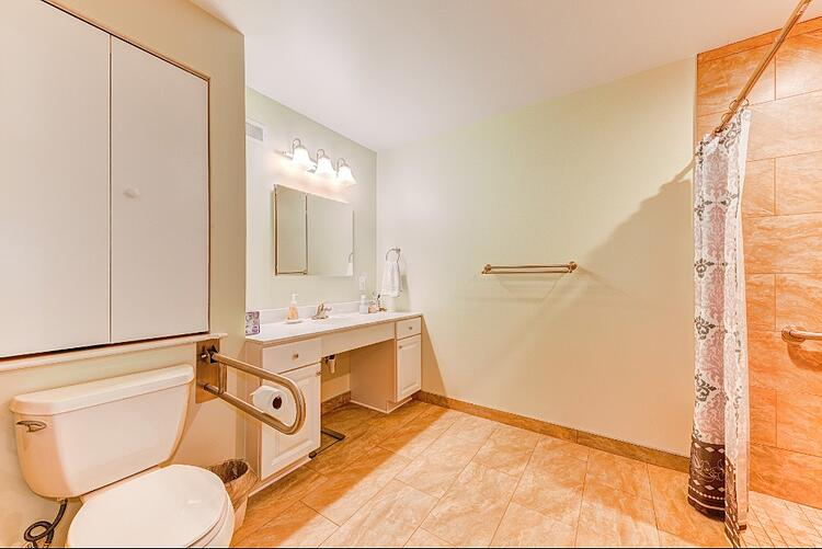 in-law suite addition - accessible toilet