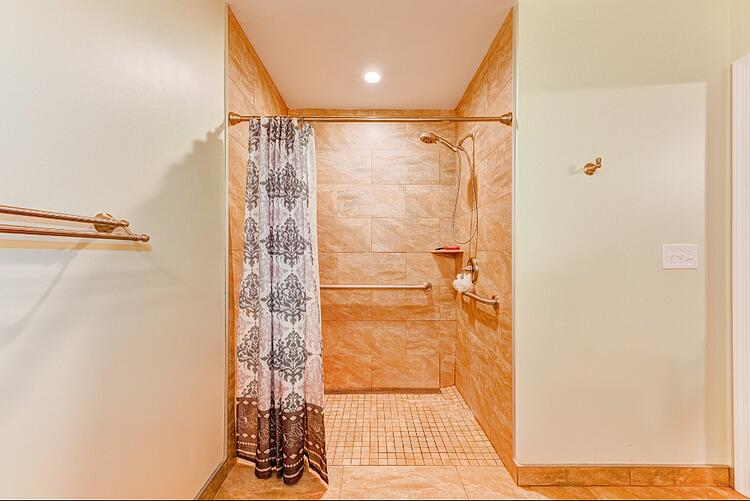 in-law suite addition - grab bars in shower