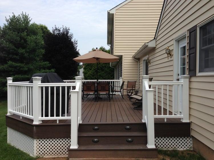 Deck vs patio - deck addition project