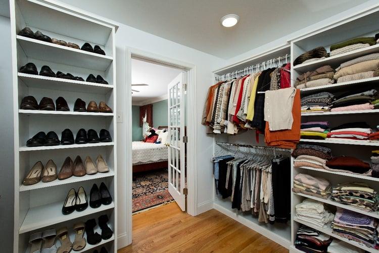 Master suite addition | closet design ideas | shelving