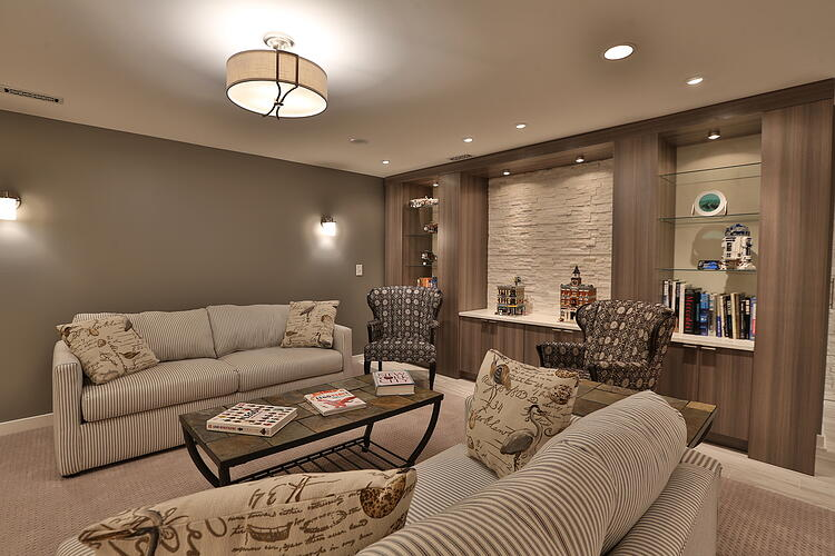 Basement Remodel - Csabay Project - Living Area