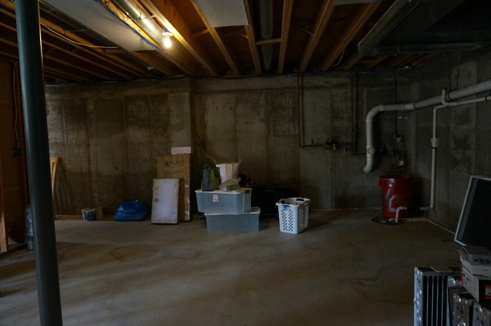 Basement remodel project - before