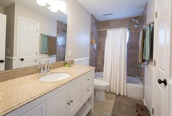 Cherry Addition Bathroom Renovation | In-law suite addition Montgomery Co PA | Tilghman Builders
