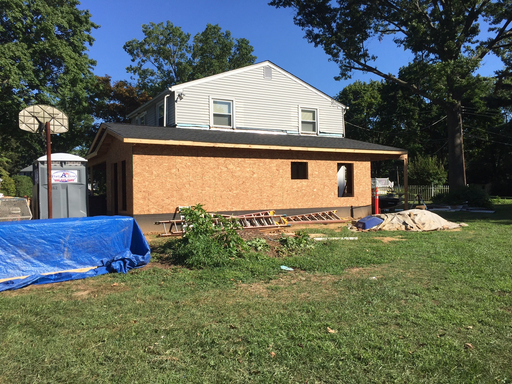 Cherry Addition During | In-law suite addition Bucks Co PA | Tilghman Builders