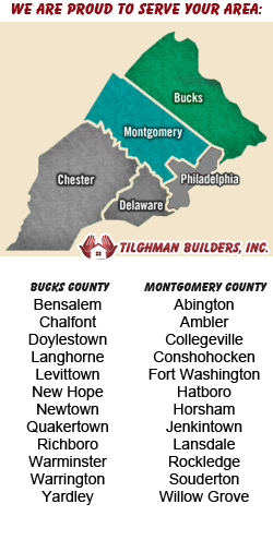 Tilghman Service Area - Builders in Montgomery County Pa