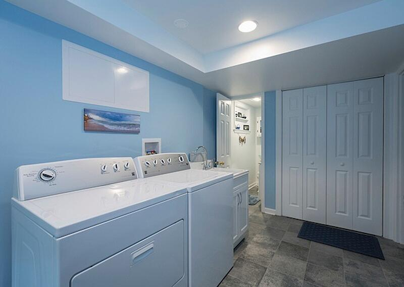 Laundry Room in Basement Remodel
