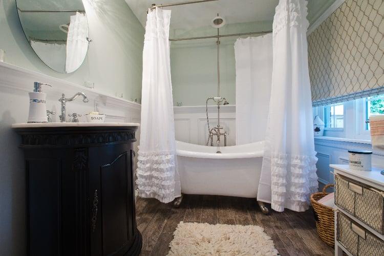 bathroom remodel - round bath tub