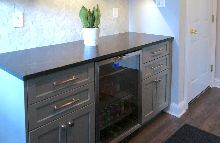Kitchen remodel - chef's kitchen - wine fridge